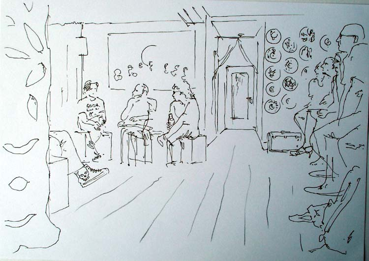 Festival Drawings 'strip Bar' a Small Bar Near